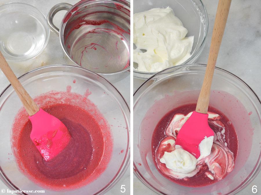 Dôme framboise Himbeer-Kuppeltörtchen Rezept Zubereitung 3