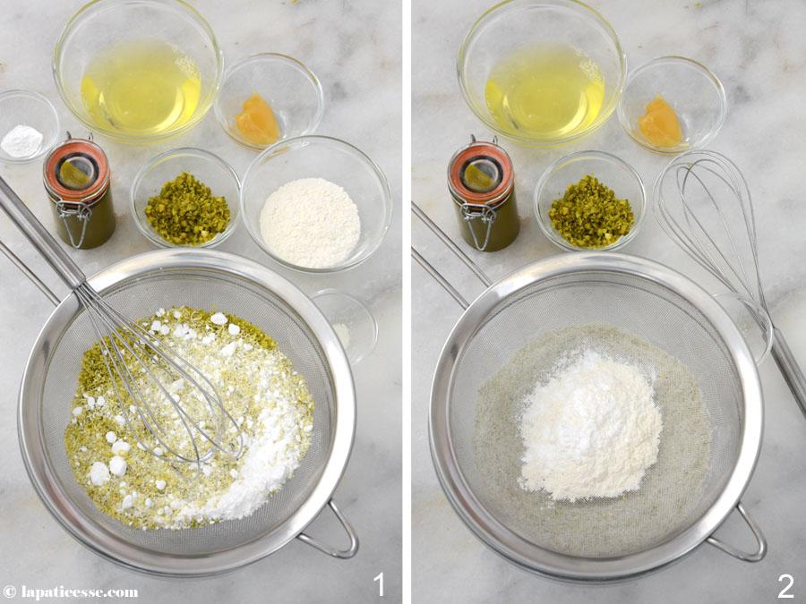 Financiers à la pistache Pistazien-Financiers Rezept Zubereitung 1-2