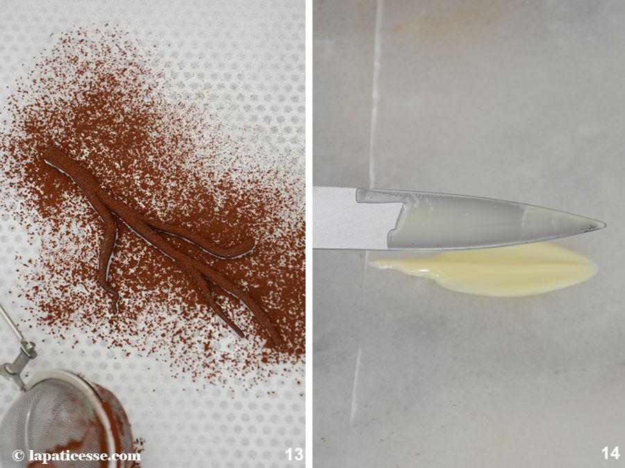 La-pomme-verte-Apfeltörtchen Schokoladen-Federn-Zubereitung-13-14