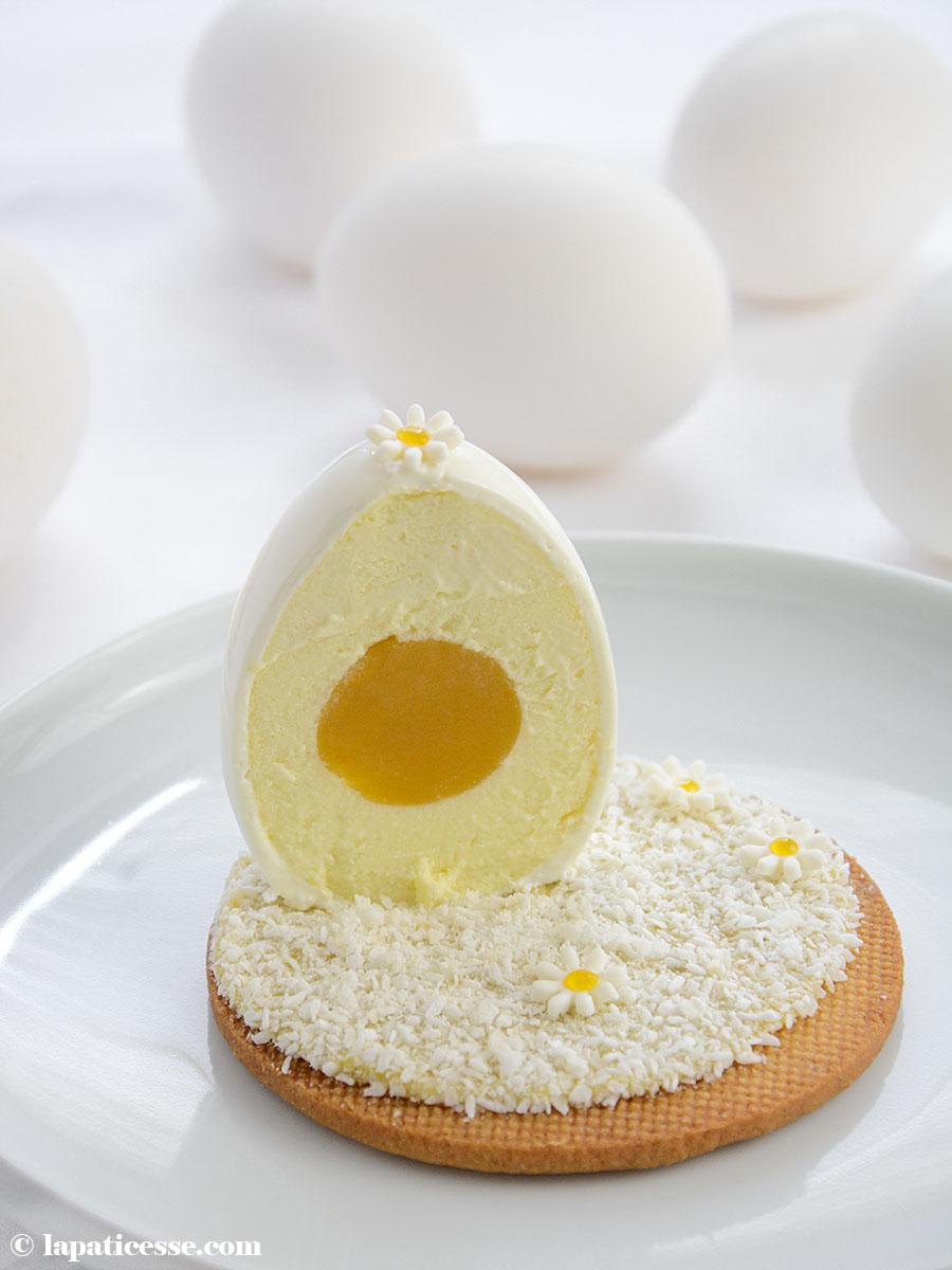Oeufs blanc de Pâques Weiße Ostereier Kokos-Mousse mit Passionsfrucht Rezept
