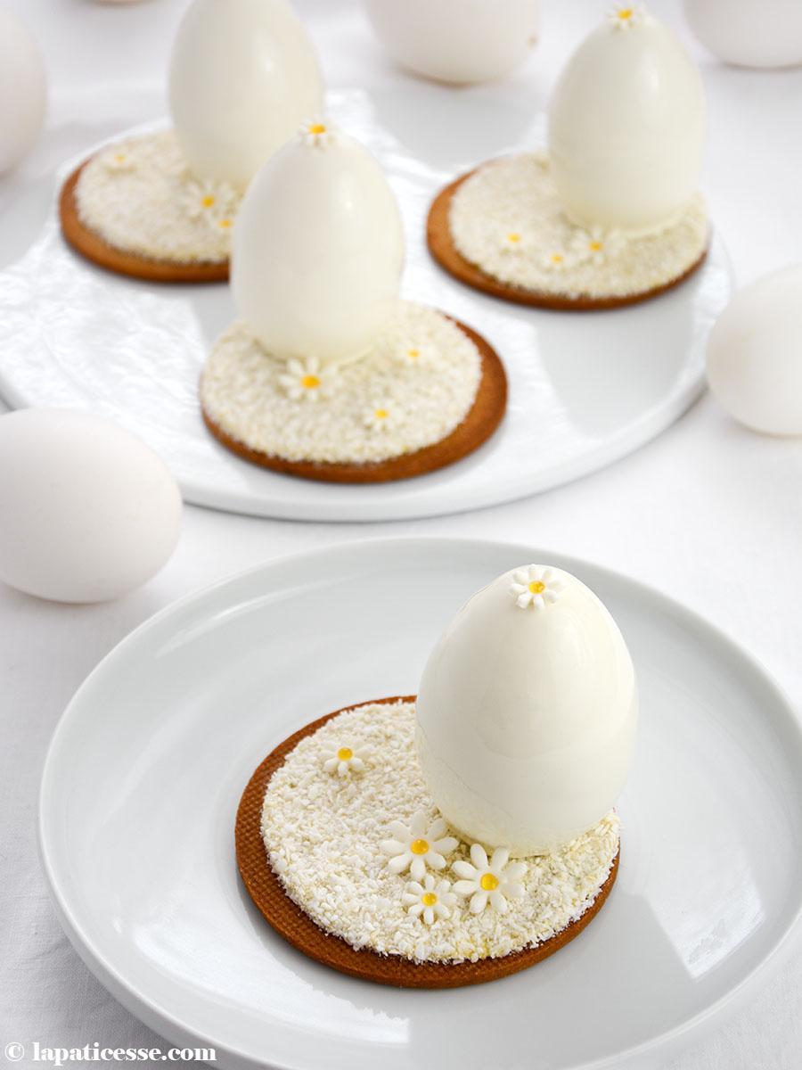 Oeufs blanc de Pâques Weiße Ostereier Kokosnuss exotische Früchte Mango Rezept