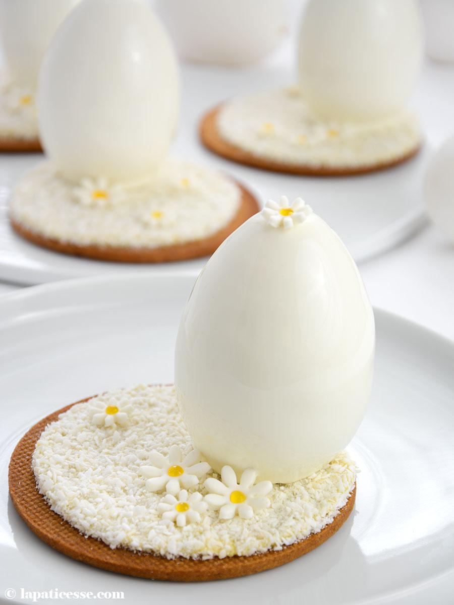 Oeufs blanc de Pâques Weiße Ostereier mit Kokos-Mousse Rezept