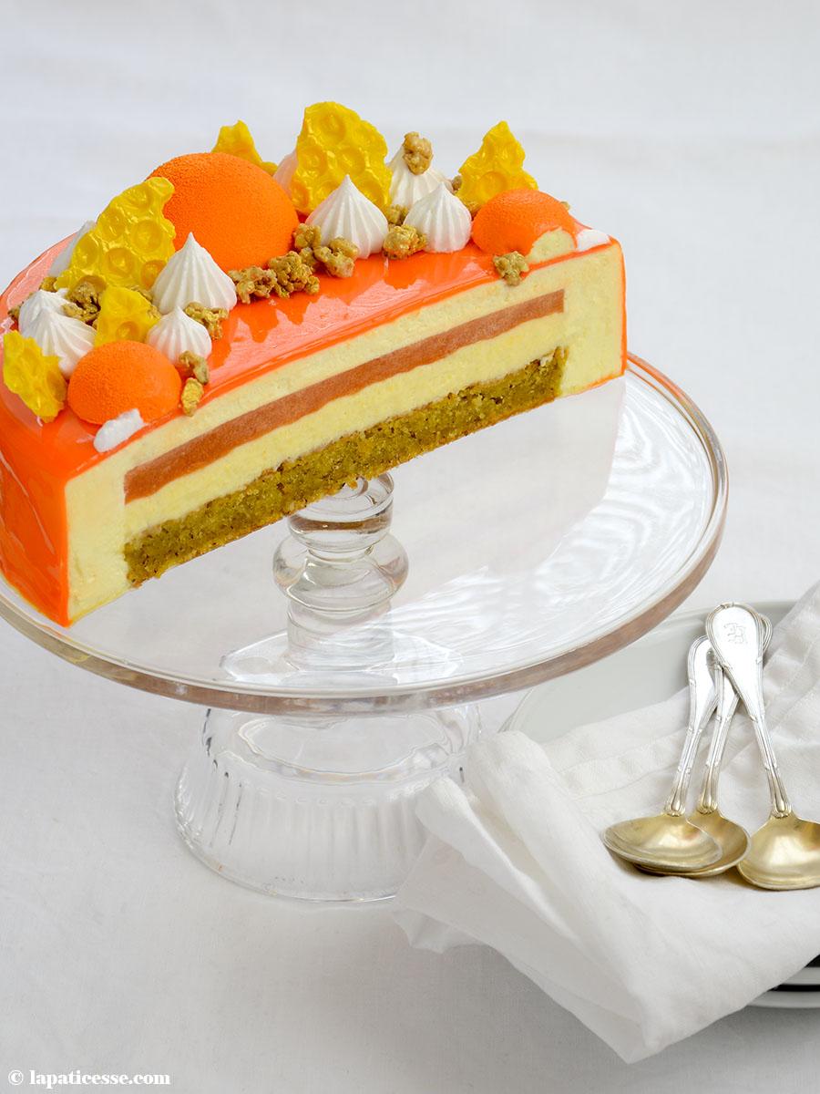 Entremets multivitaminé Multivitamin-Torte Rezept Honig-Mousse