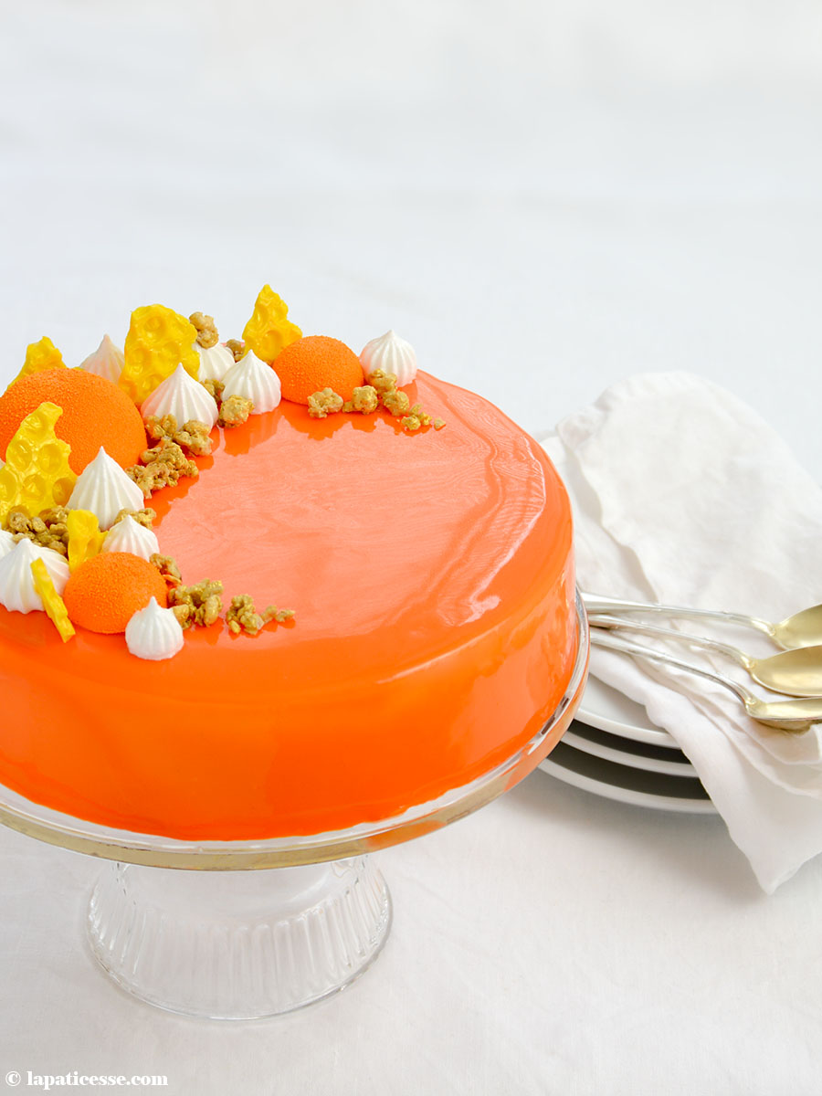 Entremets multivitaminé Multivitamin-Torte Rezept Karottenkuchen Mango