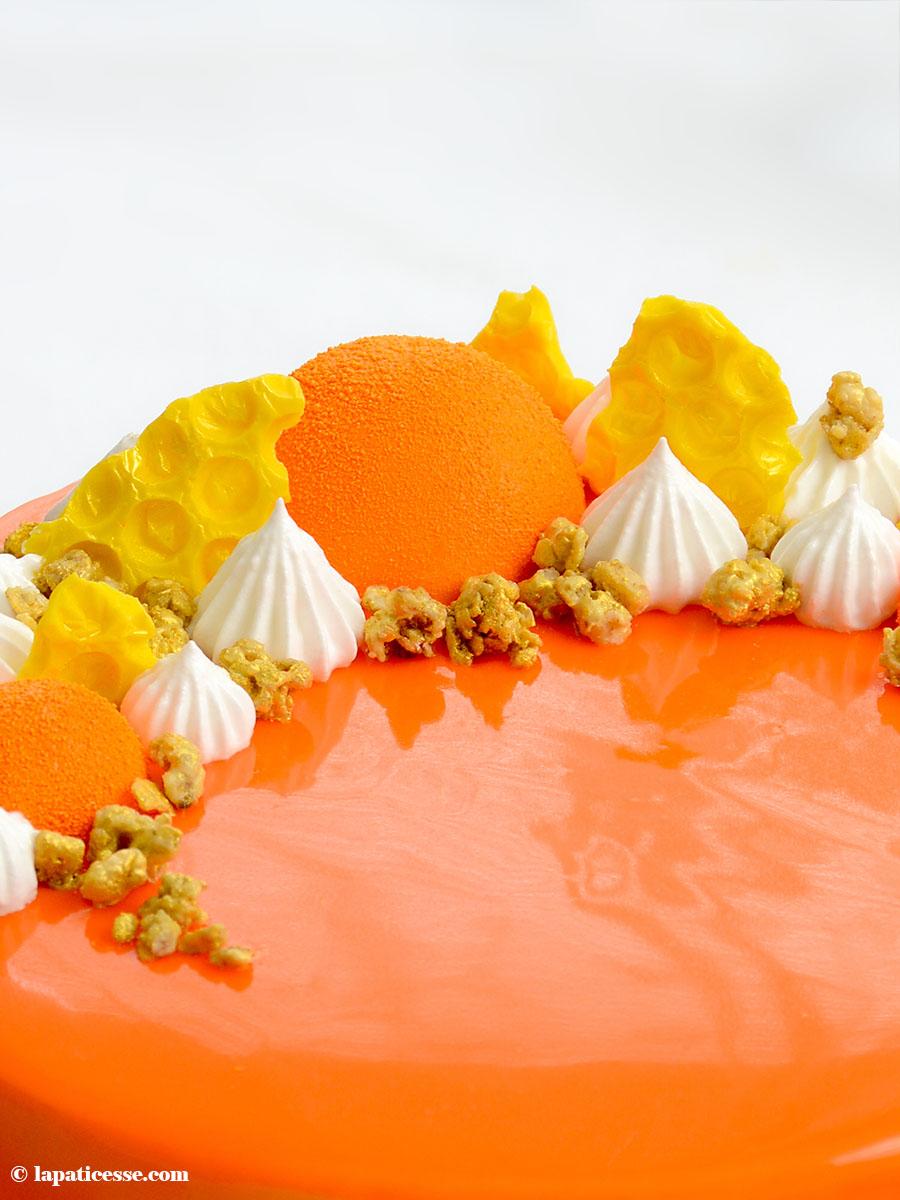 Entremets multivitaminé Multivitamin-Torte Rezept Bienenwaben Schokolade