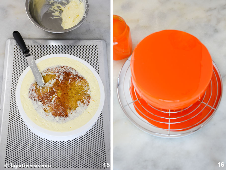 Entremets multivitaminé Multivitamin-Torte Rezept Zubereitung Glanzglasur Tortaflex 8