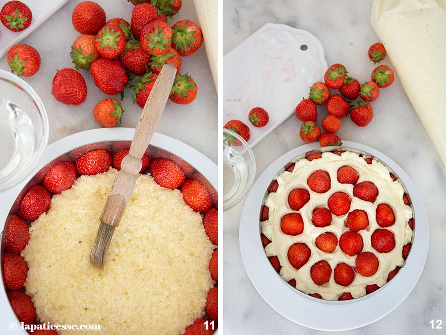 Fraisier Rezept Zubereitung Französische Erdbeertorte Erdbeerkuchen Frankreich 11-12