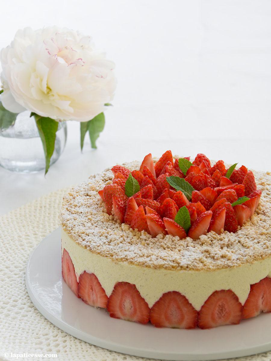 Fraisier Rezept französische Erdbeertorte Erdbeerkuchen Bagatelle aux fraises