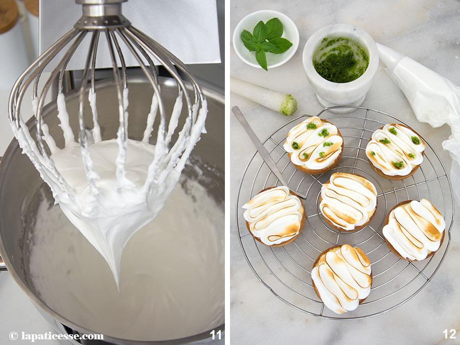 Limettentarte mit Basilikum Rezept Tarte au citron vert et basilic Zubereitung Basilikumzucker