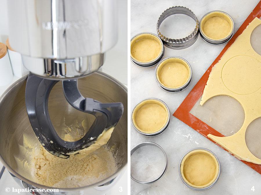 Limetten-Tarte mit Basilikum Tarte au citron vert et basilic Zubereitung 3-4 Pâte sucrée