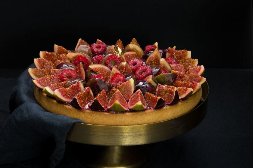 Feigen-Tarte Rezept mit Himbeeren Tarte aux figues et framboises