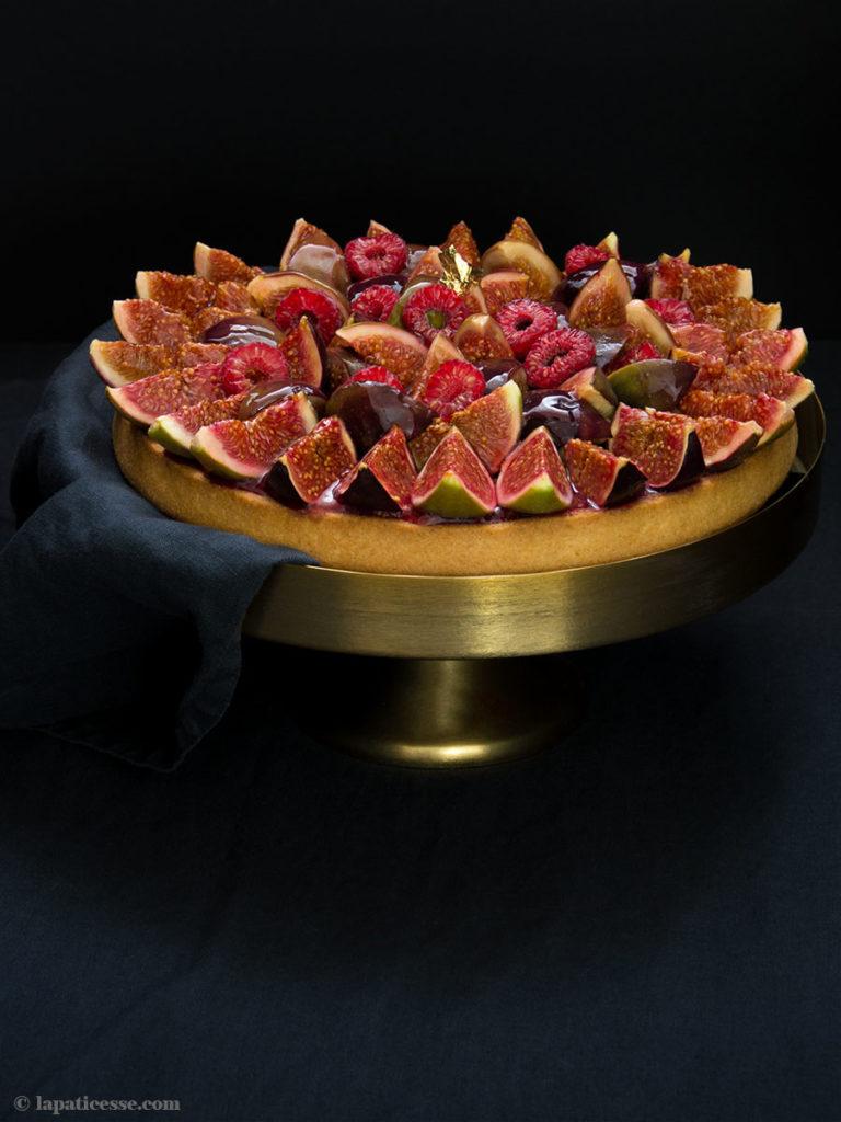 Feigen-Tarte Rezept mit Himbeeren Tarte aux figues et framboises Haselnüsse