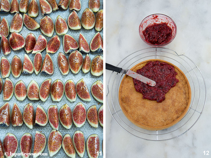 Feigen-Tarte Rezept mit Himbeeren Tarte aux figues et framboises Zubereitung 11-12