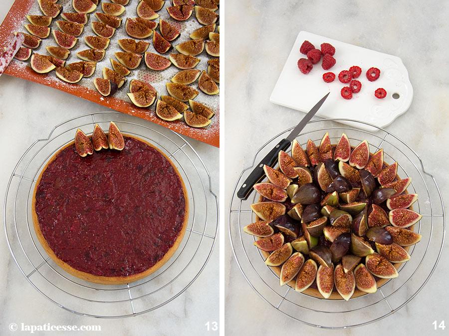 Feigen-Tarte Rezept mit Himbeeren Tarte aux figues et framboises Zubereitung 13-14
