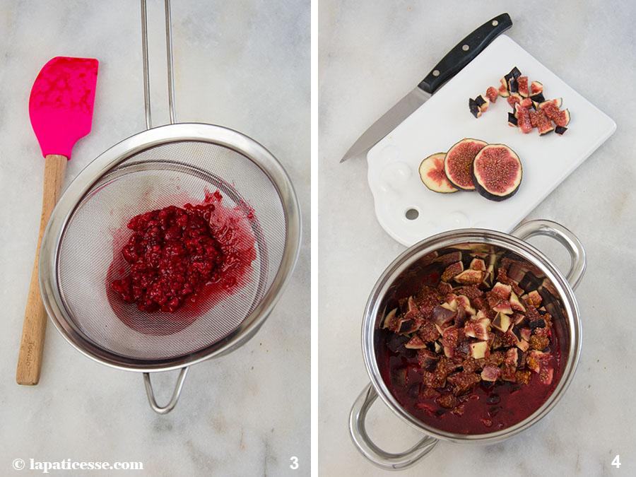 Feigen-Tarte Rezept mit Himbeeren Tarte aux figues et framboises Zubereitung 3-4