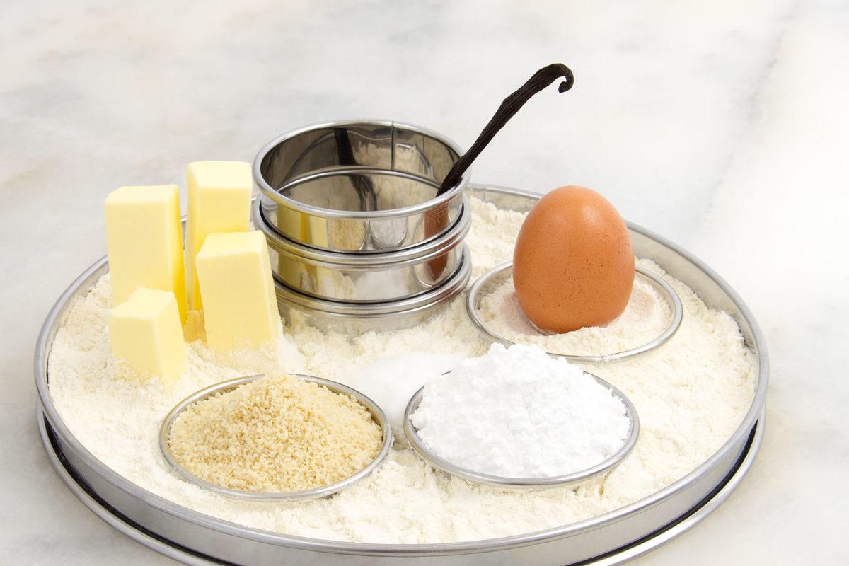 Pâte sucrée Rezept feiner französischer Mürbeteig Mandeln