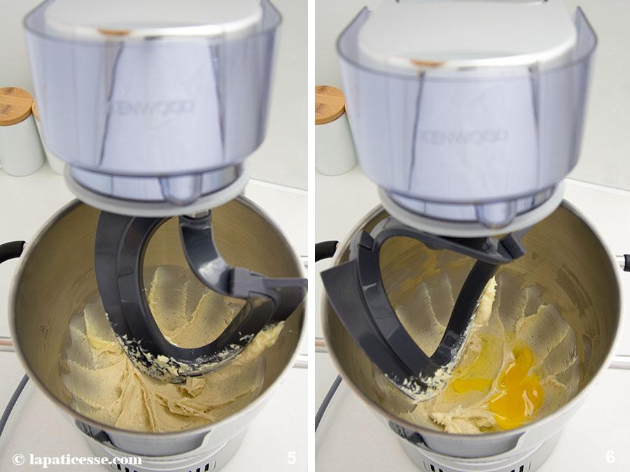 Pâte sucrée Rezept feiner französischer Mürbeteig Mandeln Cremage Küchenmaschine Zubereitung 5-6