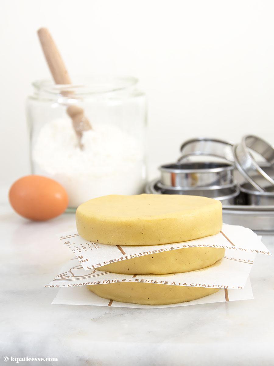 Pâte sucrée Rezept feiner französischer Mürbeteig mit Mandeln Butter