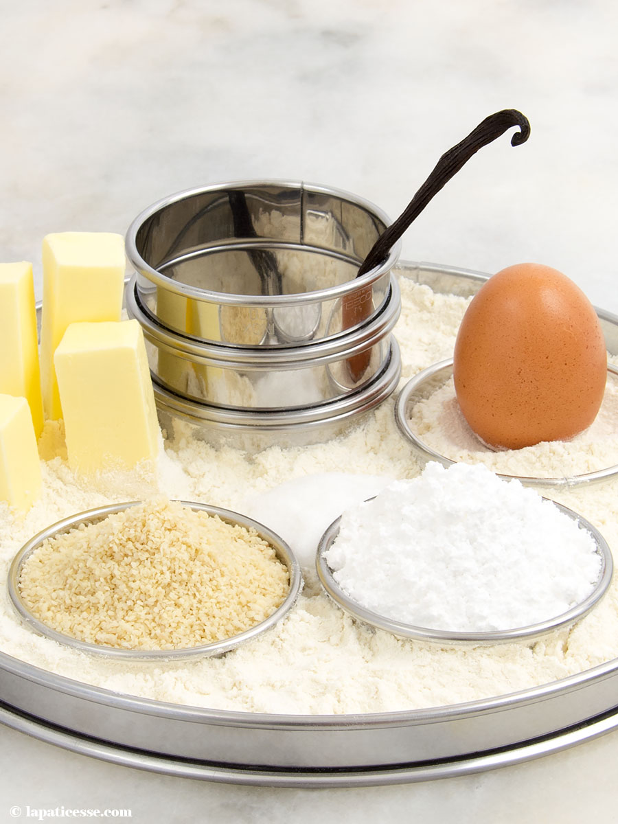 Pâte sucrée Rezept feiner französischer Mürbeteig mit Mandeln Vanille