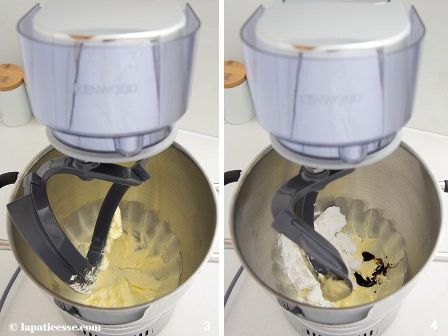 Pâte sucrée Rezept feiner französischer Mürbeteig Mandeln Cremage Küchenmaschine Zubereitung 3-4