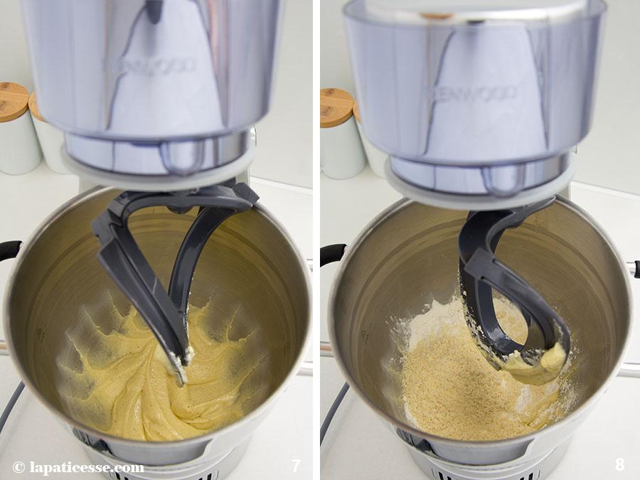 Pâte sucrée Rezept feiner französischer Mürbeteig Mandeln Cremage Küchenmaschine Zubereitung 7-8