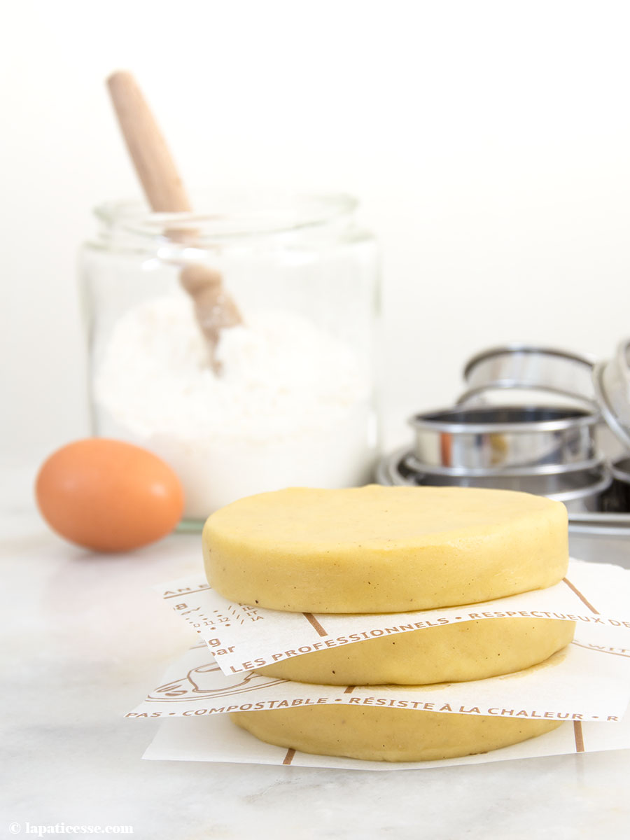 Pâte sucrée Rezept feiner französischer Mürbeteig mit Mandeln