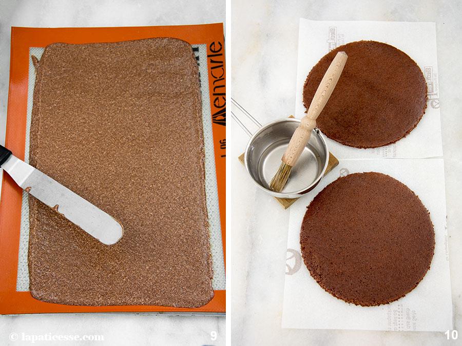 Schoko-Erdnuss-Torte Rezept Entremets très gourmand Biscuit Joconde Zubereitung 9-10