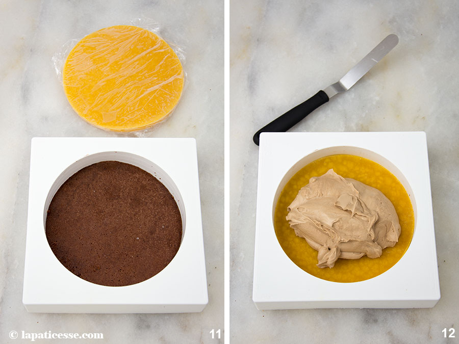 Schoko-Erdnuss-Torte Rezept Entremets très gourmand Insert Zubereitung 11-12