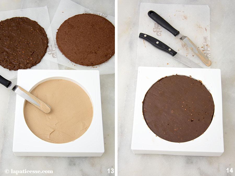 Schoko-Erdnuss-Torte Rezept Entremets très gourmand Insert Zubereitung 13-14