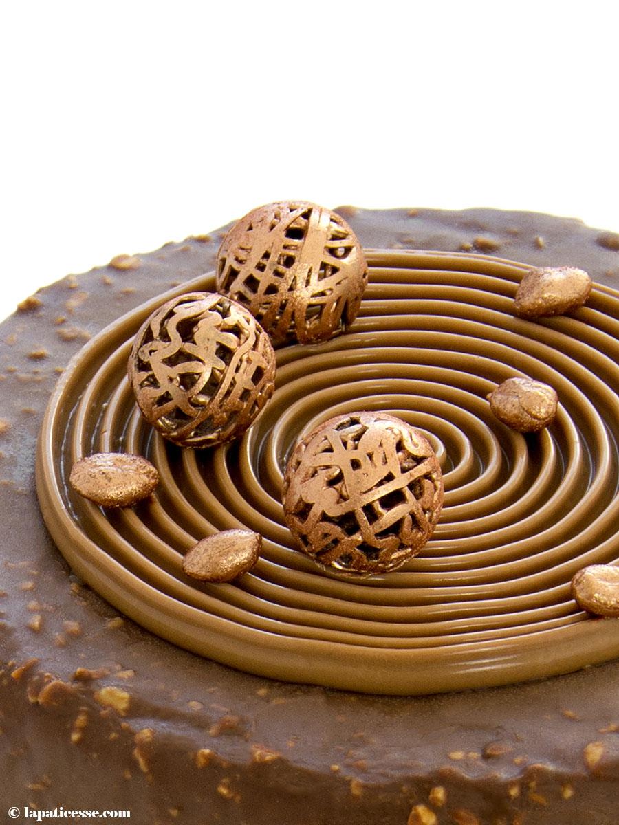 Schoko-Erdnuss-Torte Rezept Entremets très gourmand Mousse au chocolat Passionsfrucht