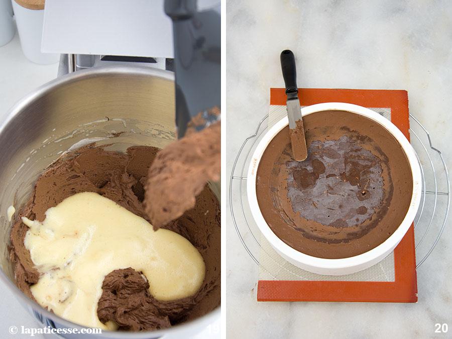 Schoko-Erdnuss-Torte Rezept Entremets très gourmand Mousse au chocolat Zubereitung 19-20