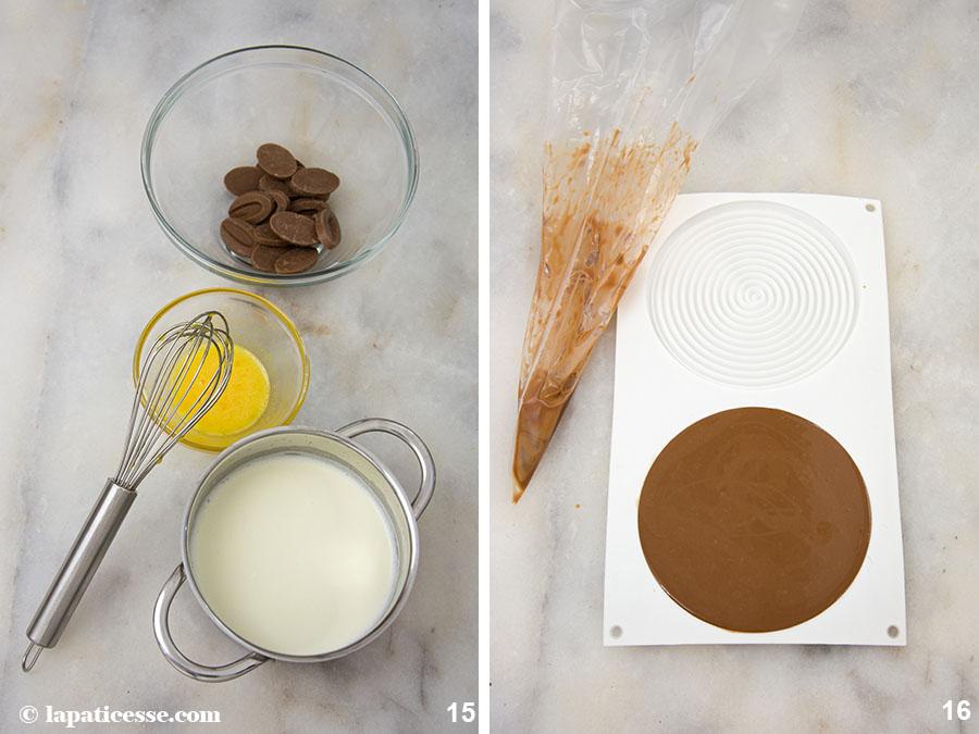 Schoko-Erdnuss-Torte Rezept Entremets très gourmand Yann Brys Tourbillon Zubereitung 15-16
