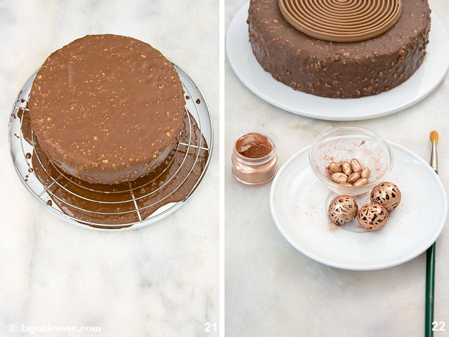 Schoko-Erdnuss-Torte Rezept Entremets très gourmand Mousse au chocolat Zubereitung 21-22