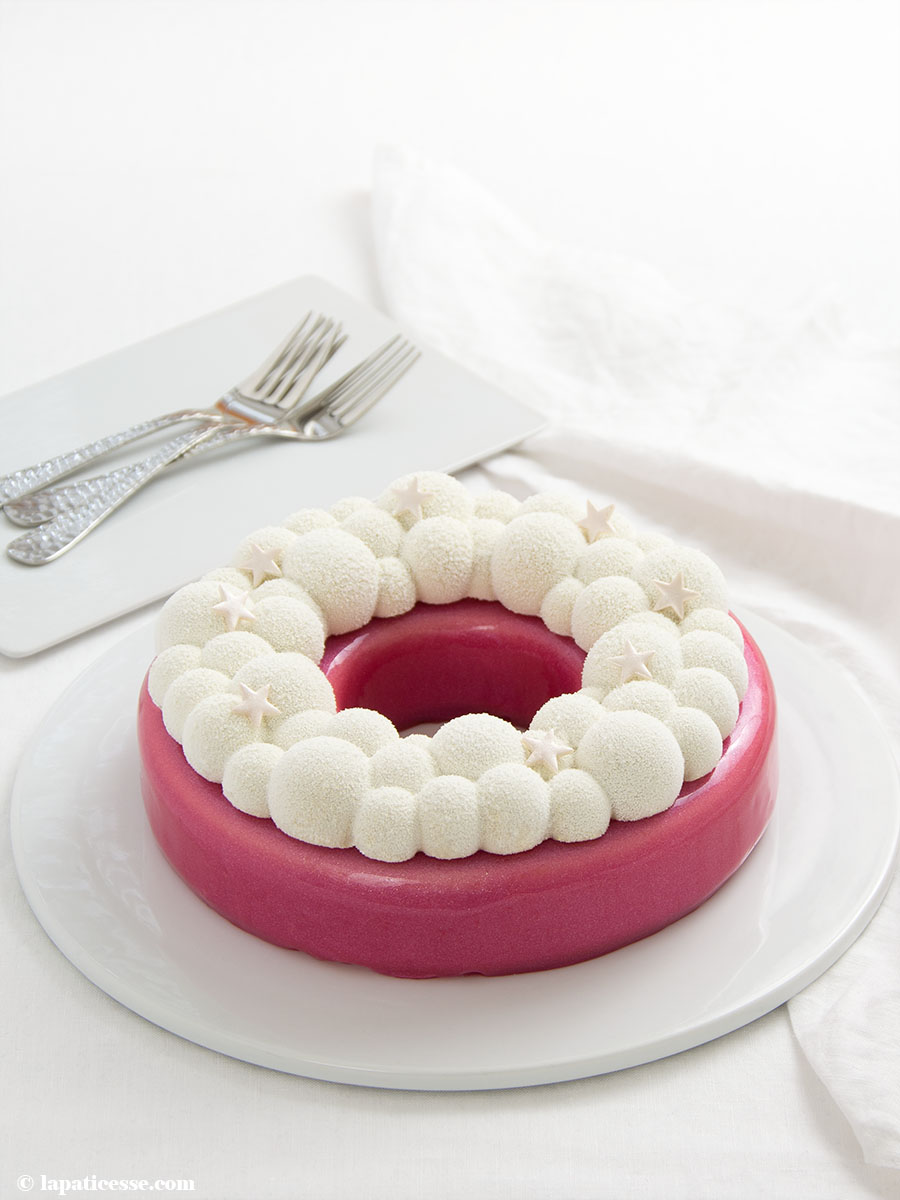 Himbeer-Kokos-Torte Rezept Glitzer-Glasur Bubble Crown