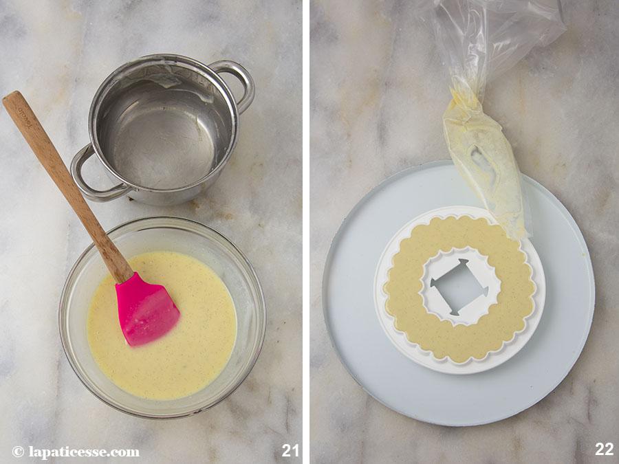 Himbeer-Kokos-Torte Rezept Glitzer-Glasur Zubereitung 21-22