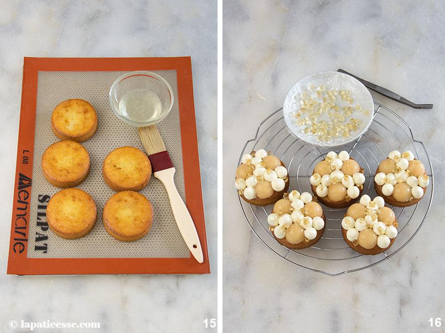 Quitten-Tartelettes mit Riesling Rezept Biskuit Zitrone Mascarpone Vanille Zubereitung 15-16