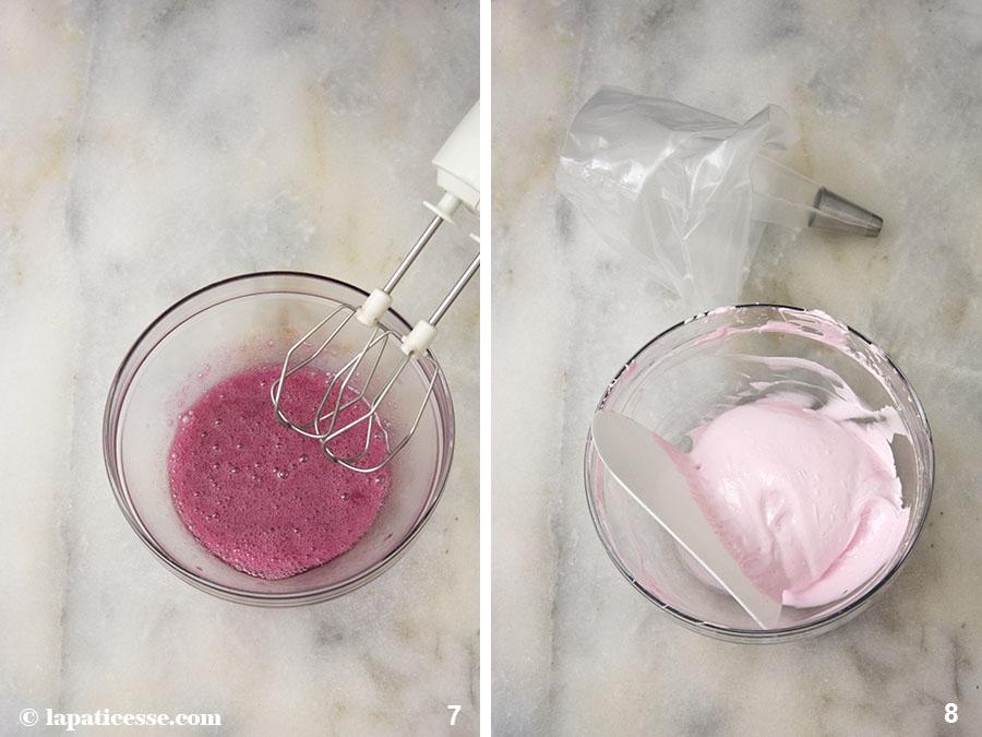 Beeren-Törtchen Rezept Petits gâteaux aux fruits rouges Waldrüchte Marshmallow Zubereitung 7-8