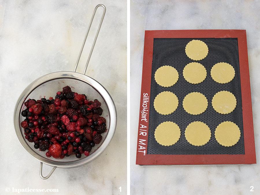 Beeren-Törtchen Rezept Petits gâteaux aux fruits rouges Waldrüchte Zubereitung 1-2