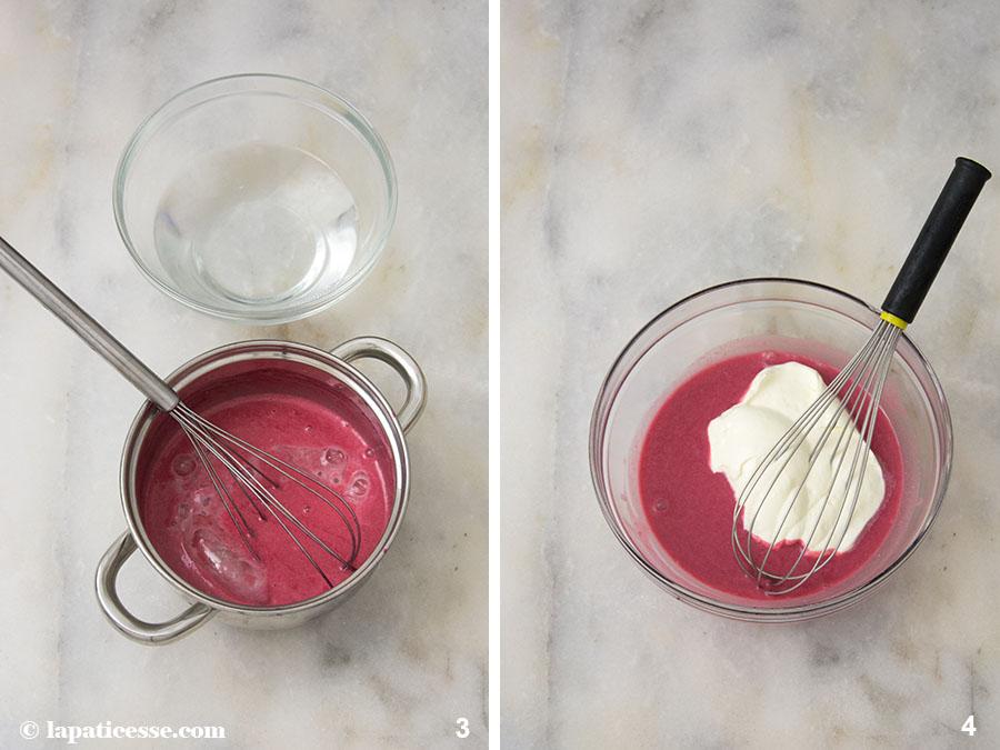 Beeren-Törtchen Rezept Petits gâteaux aux fruits rouges Waldrüchte Mousse Zubereitung 3-4