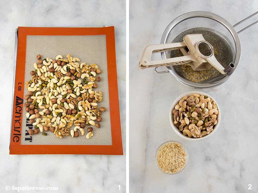 Nuss-Tartelettes Rezept Karamell Zubereitung 1