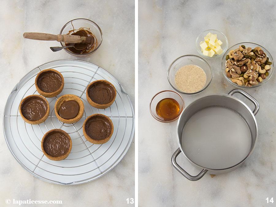 Nuss-Tartelettes Rezept Karamell Zubereitung 7