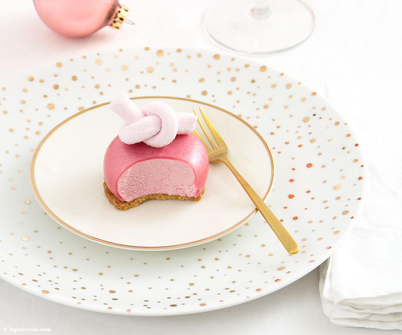 Rezept für beeren Törtchen Mirror Glaze Himbeer Marshmallow Knoten Patisserie Blog