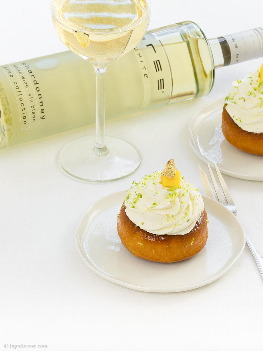 Baba au Chardonnay Rezept exotische Früchte Brioche Bree Wein