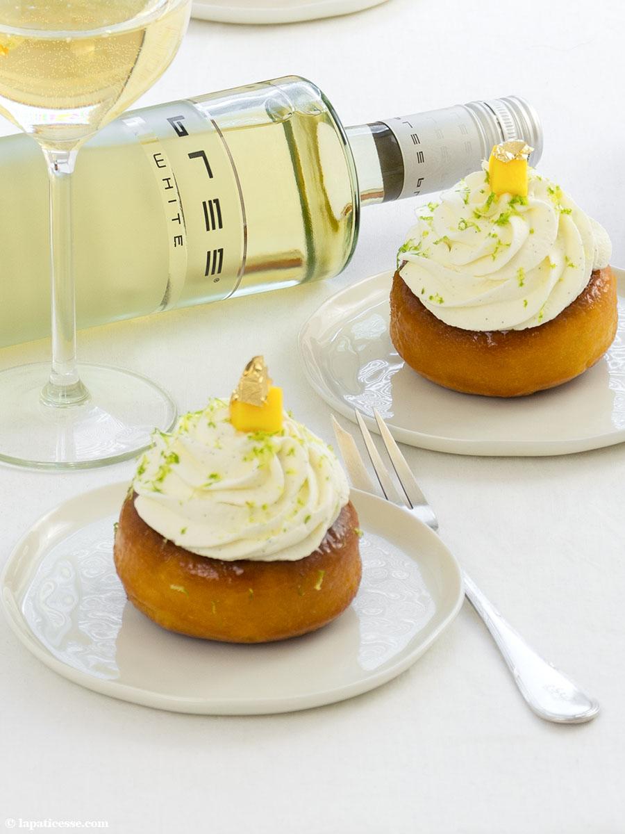 Baba au Chardonnay Rezept exotische Früchte Bree Wein