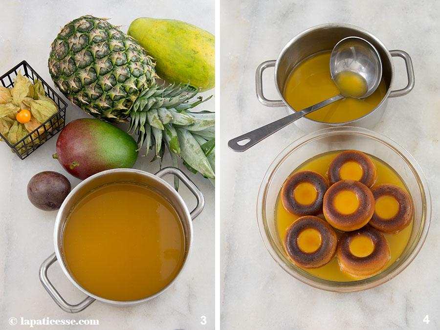 Baba au Chardonnay exotische Früchte Rezept Zubereitung 3-4