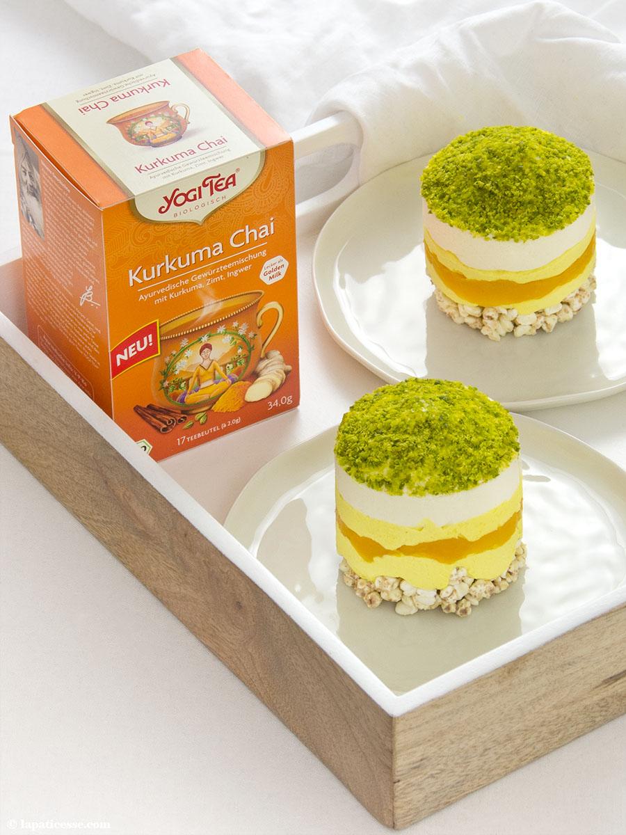 Törtchen Golden Milk Rezept Mango YOGI TEA Kurkuma Chai 1