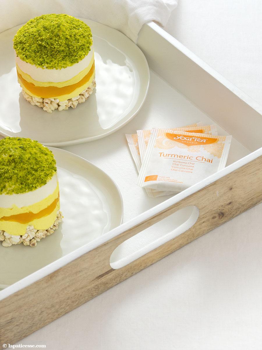 Törtchen Golden Milk Rezept Pistazien YOGI TEA Kurkuma Chai 1