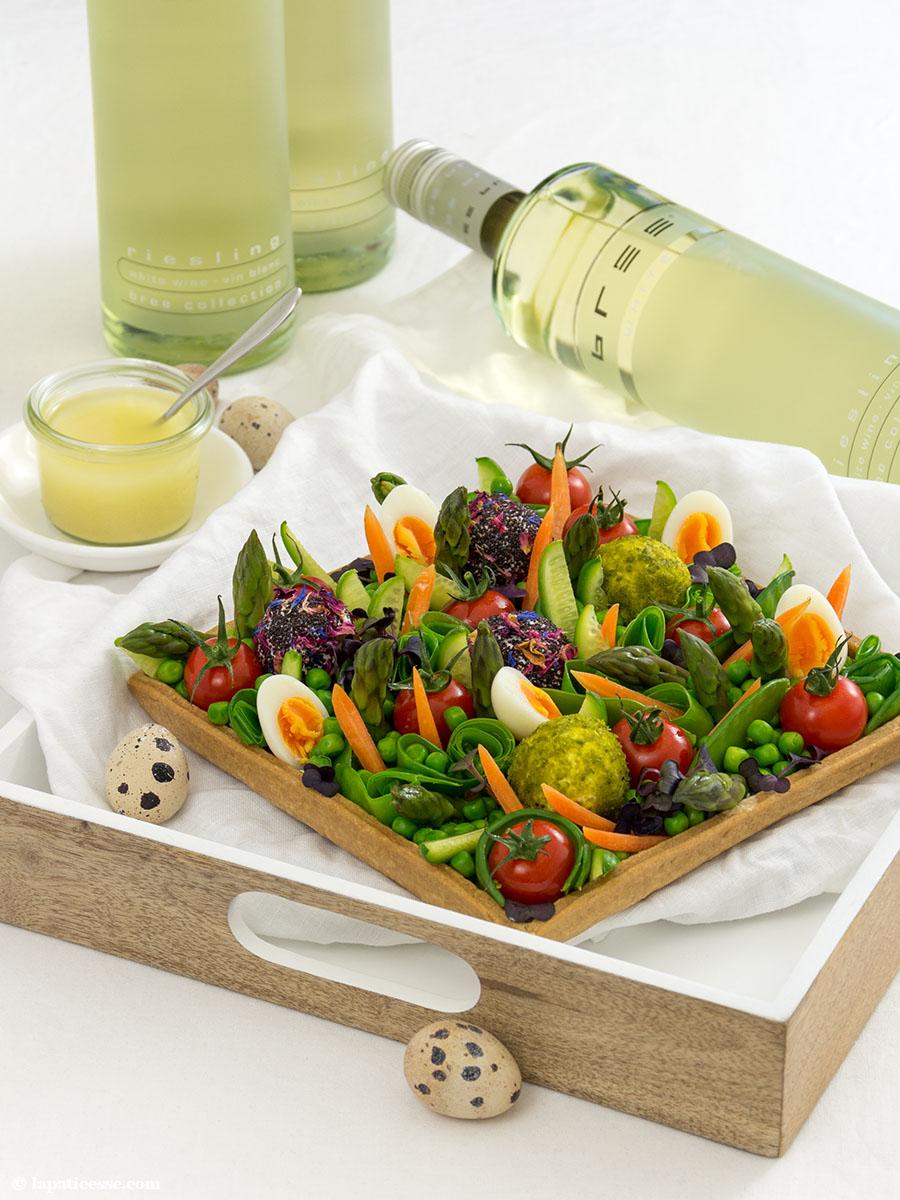 Frühlingstarte Rezept Ostern Frühlingsgemüse Mürbeteig Bree Wein