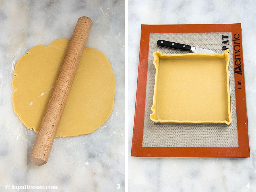 Frühlingstarte Rezept Ostern Tarte printanière Pâte brisée Zubereitung 3-4
