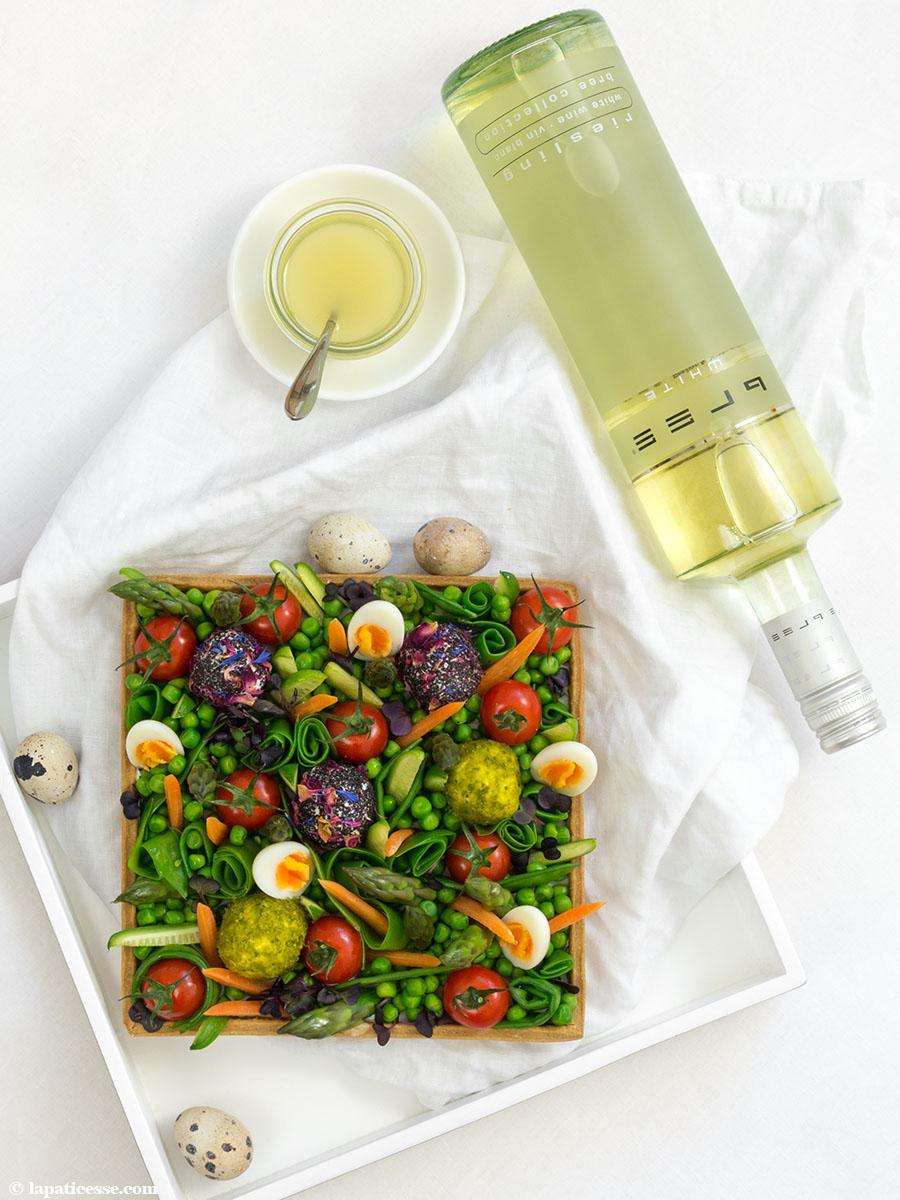 Frühlingstarte Rezept Ostern Frühlingsgemüse Bree Wein